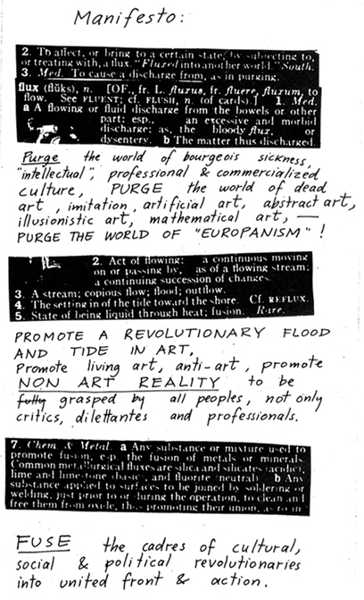 A Fluxus Manifesto. Some have said that the Flotillas of Hope was a Fluxus Action.