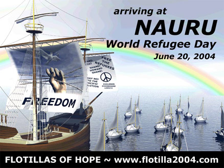 The first poster to promote the Flotillas of Hope by Matt Hamon, who was also the computer wizkid for Hope Caravan and Ground Crew for the project.