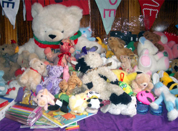 Some of the Cargo of Hope - toys and gifts from the Australian people for the children and their parents imprisoned on Nauru.
