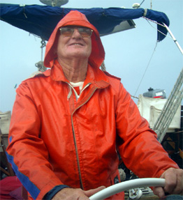 Lance Gowland, Skipper of Eureka on the way to Nauru with the Flotillas of Hope.