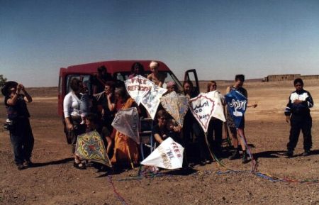 Broken Hill supporters made kites to fly when we passed through their town.