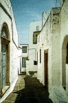 Patmos, Greece - street scene.