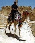 Palmyra, Syria - Stavros on a camel.