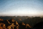 Mount Sinai, Egypt - view from the top of Mt Sinai.