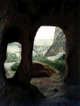 Goreme, Turkey - view from inside a cave house.