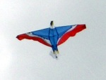 Kite flown near home.