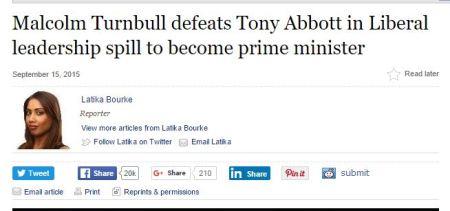 Abbott Turbull Spill sept 15 newspaer