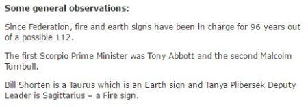 Aust PMs Fire Earth