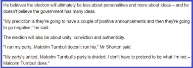 Quote in Age Shorten 12 March 2016 with border